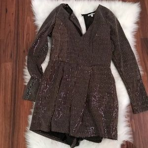 Brown sequin romper from Charlotte Russe